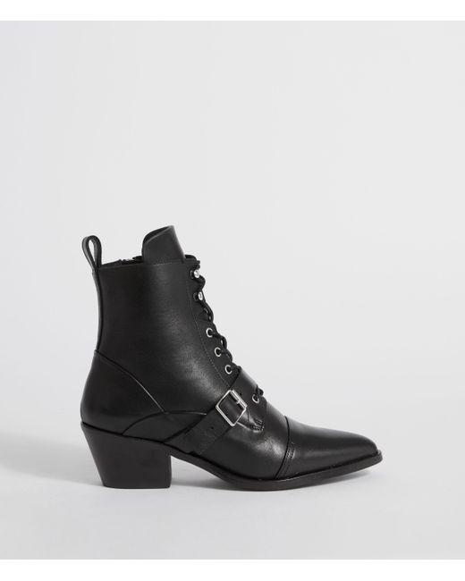 AllSaints Black Katy Boot