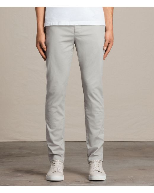 AllSaints | Gray Park Chino for Men | Lyst