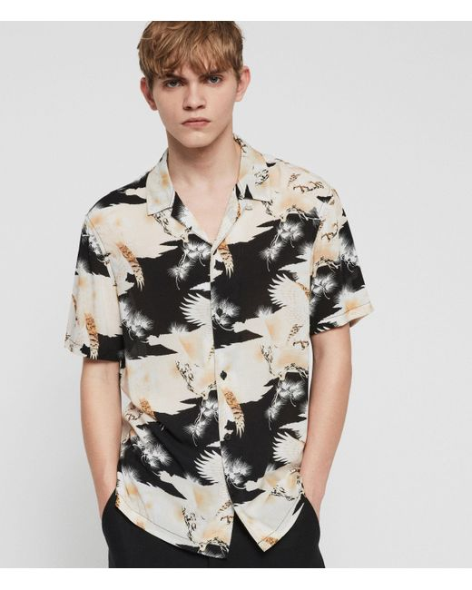 AllSaints Black Talon Shirt for men