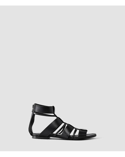 AllSaints - Black Phoenix Sandal - Lyst