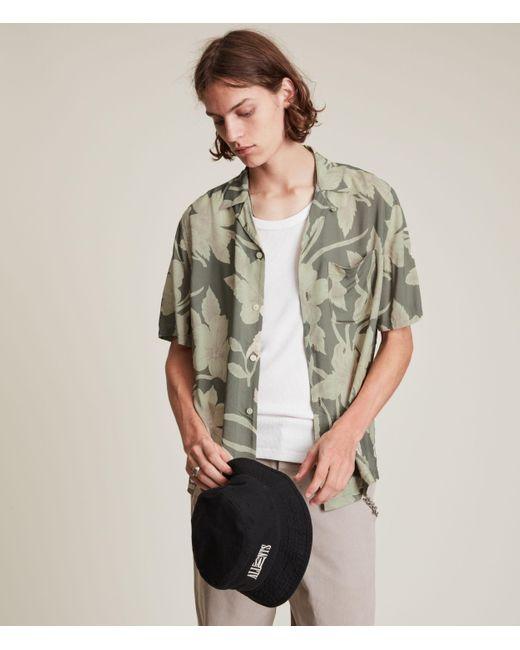 AllSaints Green Men's Jardino Shirt for men