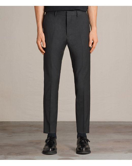 AllSaints   Gray Vernon Trouser for Men   Lyst