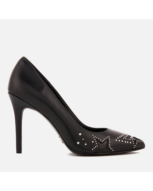 08b7ea31afff MICHAEL Michael Kors - Black Sia Leather Court Shoes - Lyst ...