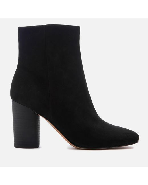Sam Edelman - Black Women's Corra Suede Heeled Ankle Boots - Lyst