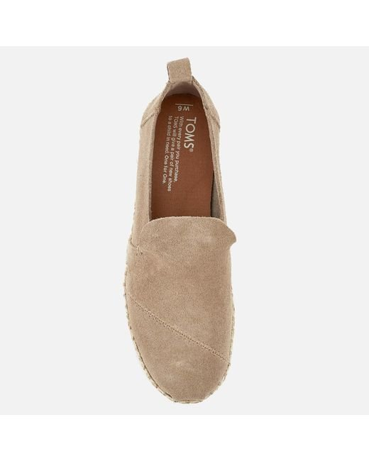 3766973910f TOMS Deconstructed Alpargata Suede Espadrilles in Natural - Save 54 ...