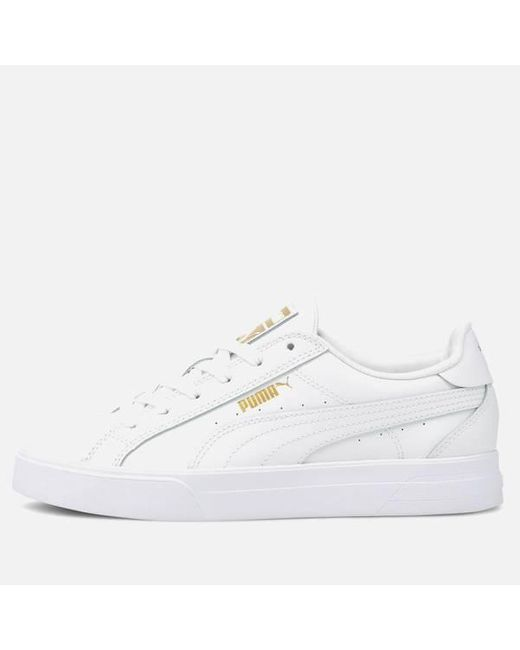PUMA Synthetic Ana Low Top Trainers in White/Gold (White) - Lyst