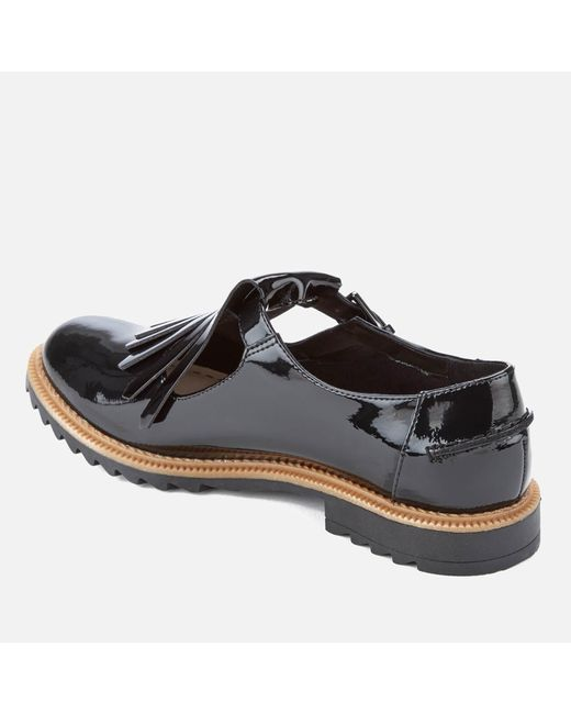 Griffin Mia Patent Frill T Bar Shoes