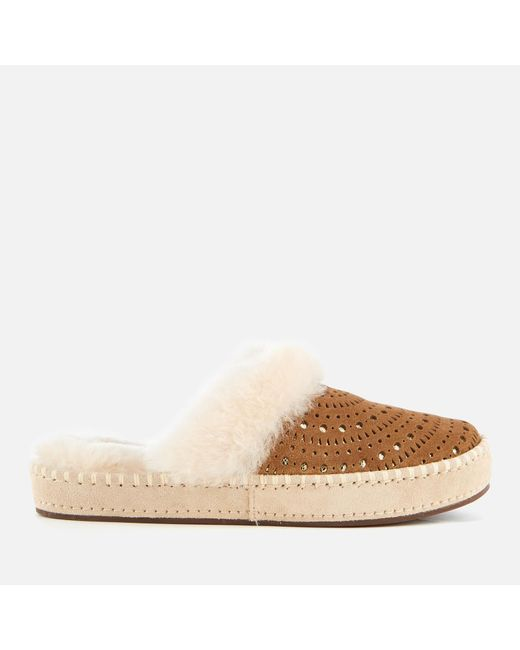 Ugg - Brown Aira Sunshine Perf Slippers - Lyst