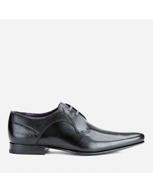 Ted Baker | Black Men's Martt2 Leather Derby Shoes for Men | Lyst