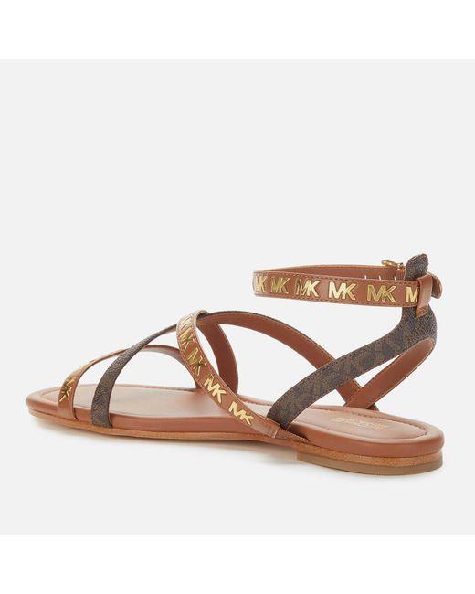 Michael Kors Women's Brown Tasha Flat Sandals