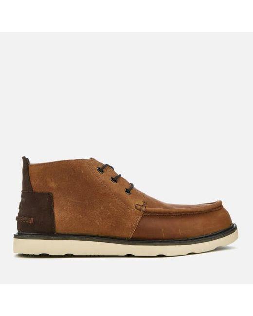 TOMS | Brown Men's Waterproof Leather Chukka Boots for Men | Lyst