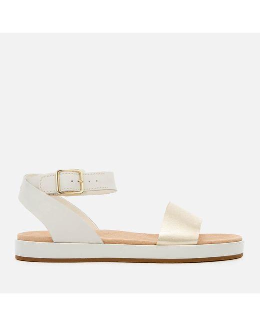 50264c3b5fb1 Clarks Botanic Ivy Flat Sandals in White - Save 15% - Lyst