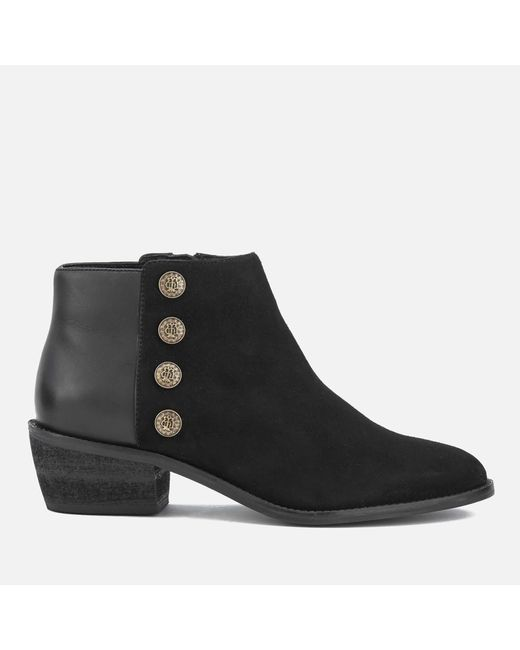 Dune - Black Women's Panella Suede Ankle Boots - Lyst