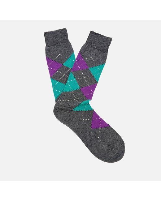 Pantherella - Gray Men's Turnmil Egyption Cotton Argyle Socks for Men - Lyst