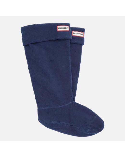 Hunter - Blue Unisex Tall Fleece Welly Socks - Lyst