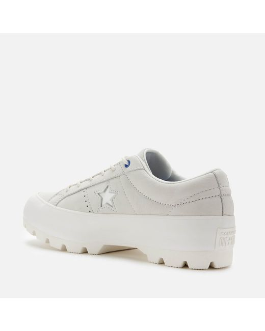 Converse Leather One Star Lugged Spacecraft Ox Trainers in