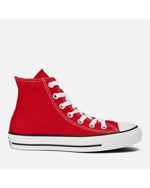 Converse - Red Unisex Chuck Taylor All Star Canvas Hitop Trainers for Men - Lyst