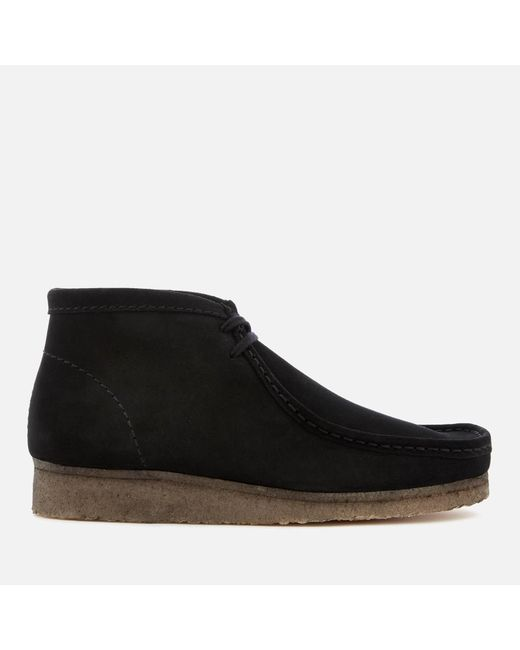 Clarks - Black Men's Wallabee Boots for Men - Lyst