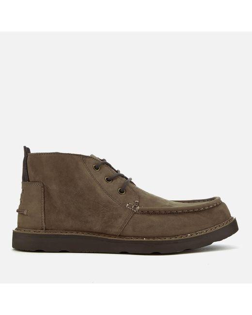 TOMS | Brown Men's Nubuck Chukka Boots for Men | Lyst