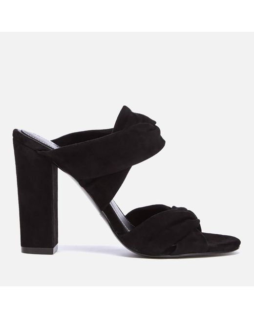 Kendall + Kylie - Black Women's Demi Suede Double Strap Heeled Mules - Lyst