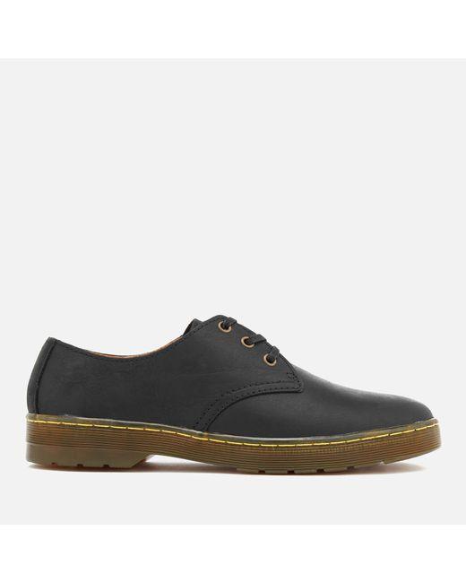 Dr. Martens Black Cruise Coronado Leather Derby Shoes for men