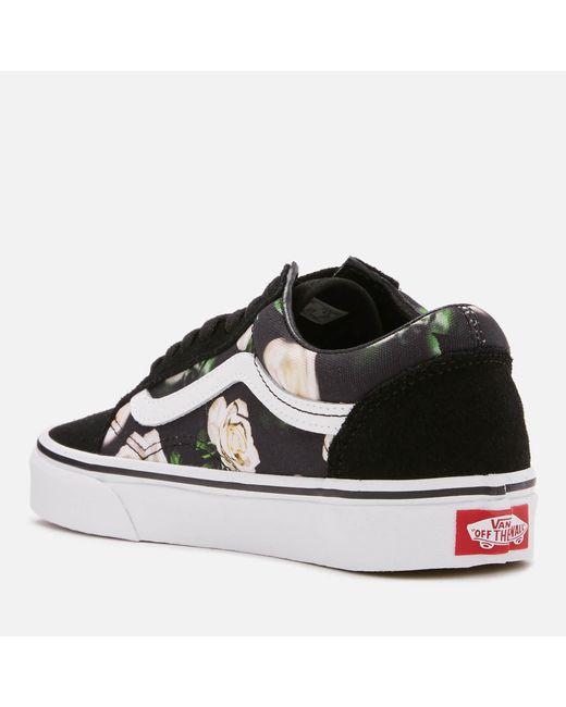 edefe08400 ... Vans - Black Romantic Floral Old Skool Trainers - Lyst ...