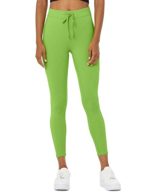 Alo Yoga Green 78 High-waist Checkpoint Legging