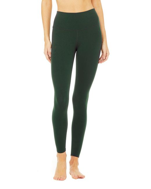 Alo Yoga High Waist Airbrush Legging In Forest Size 2xs In Green Save 21 Lyst