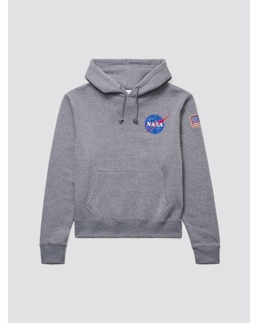 Alpha Industries Gray Space Shuttle Hoodie for men