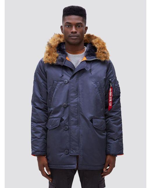 brand new 2f20b 1a684 Men's Blue Slim Fit N-3b Parka