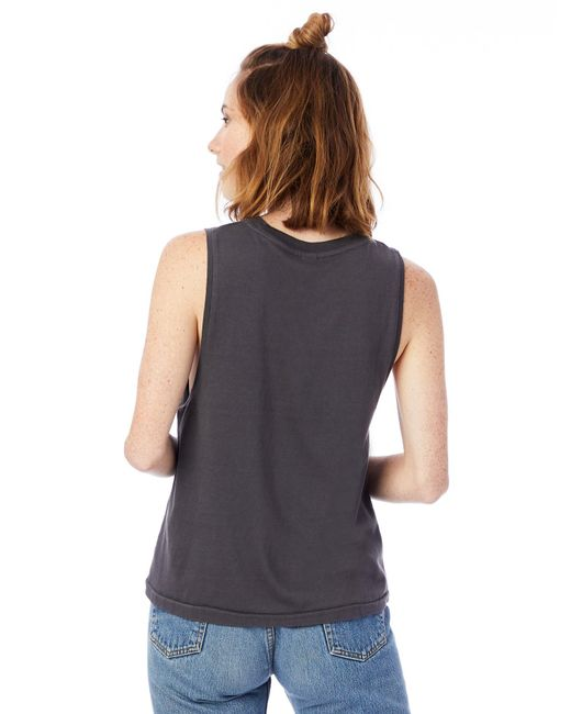 4dca8e8d9 ... Alternative Apparel - Gray Heavy Wash Jersey Muscle Tank Top - Lyst ...