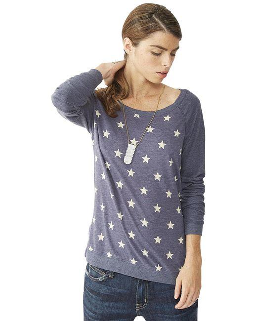 Alternative Apparel | Gray Printed Locker Room Pullover | Lyst