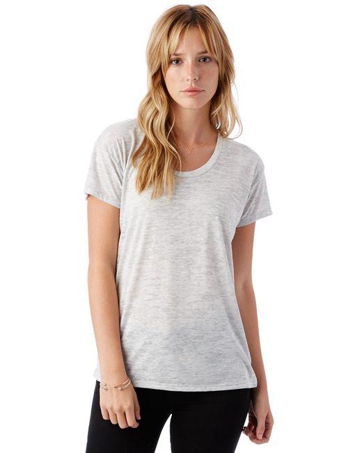 Alternative Apparel   Natural Kimber Melange Burnout T-shirt   Lyst