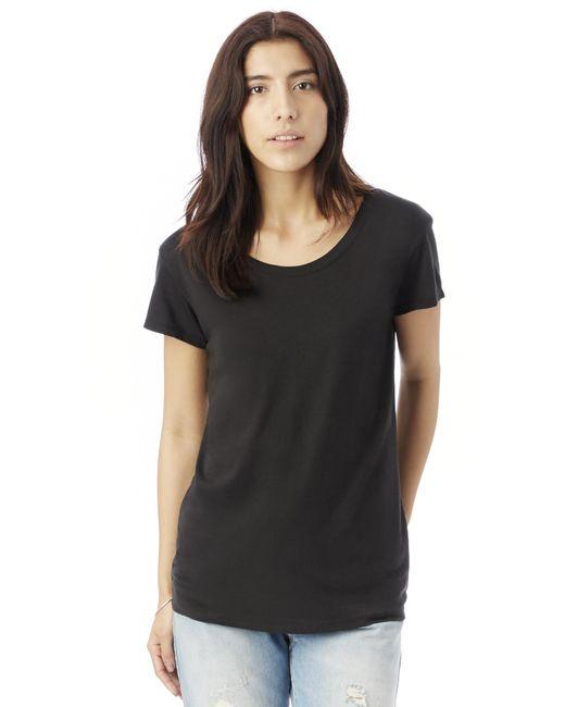 Alternative Apparel   Black Essential Cotton Modal Drop Sleeve T-shirt   Lyst