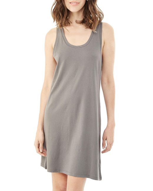 Alternative Apparel | Metallic Effortless Cotton Modal Tank Dress | Lyst