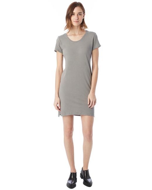 Alternative Apparel | Gray Legacy Garment Dyed T-shirt Dress | Lyst