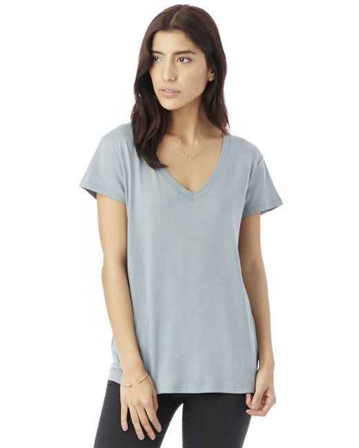 Alternative Apparel | Blue Everyday Cotton Modal V-neck T-shirt | Lyst