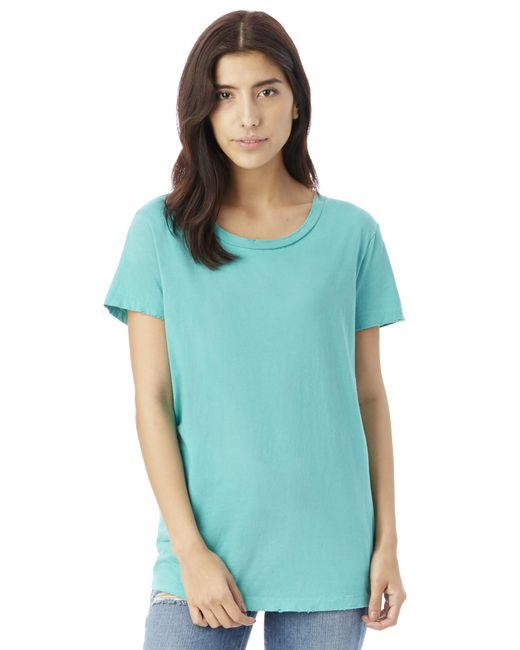 Alternative Apparel   Green Vintage Garment Dyed Distressed T-shirt   Lyst
