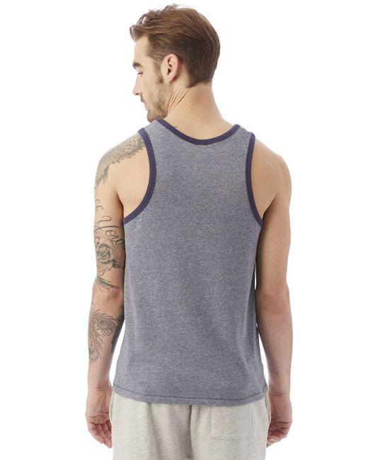 alternative apparel keeper vintage jersey tank top in blue