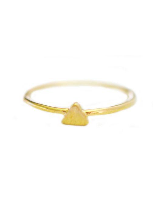 Cloverpost | Yellow Mini Traingle Ring | Lyst