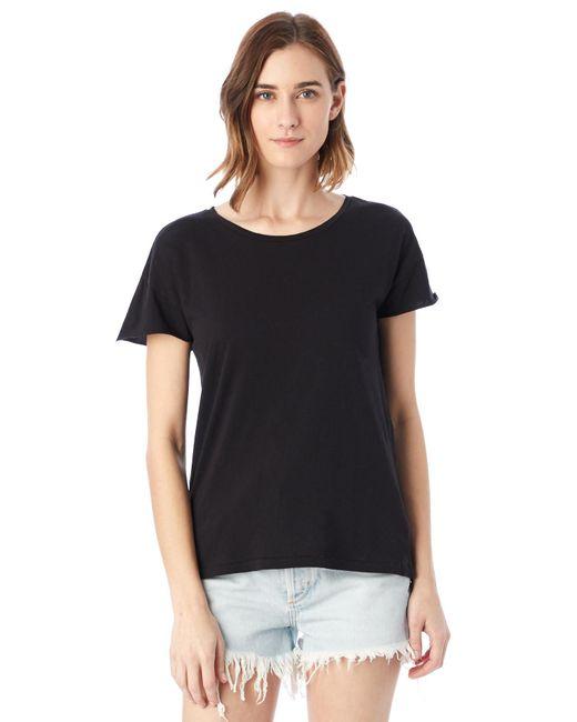 Alternative Apparel | Black Rocker Garment Dyed T-shirt | Lyst