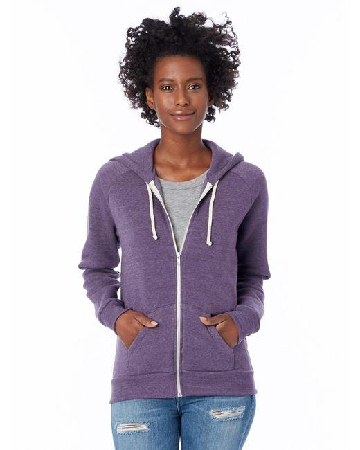 Alternative Apparel - Purple Adrian Eco-fleece Zip Hoodie - Lyst