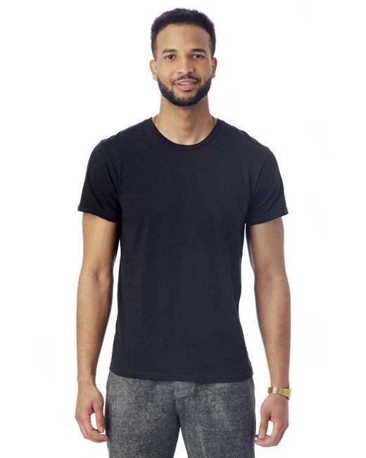 Alternative Apparel | Black Heritage Garment Dyed Distressed T-shirt for Men | Lyst