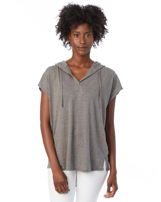 Alternative Apparel - Gray Vintage Jersey Poncho - Lyst