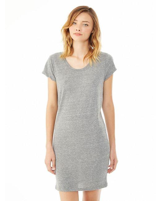Alternative Apparel | Gray Lakeside Eco-jersey Dress | Lyst