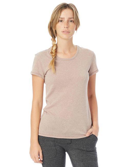 Alternative Apparel - Gray Keepsake Vintage Jersey T-shirt - Lyst