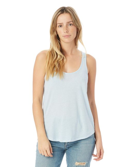 Alternative Apparel - Blue Backstage Vintage Jersey Tank Top - Lyst