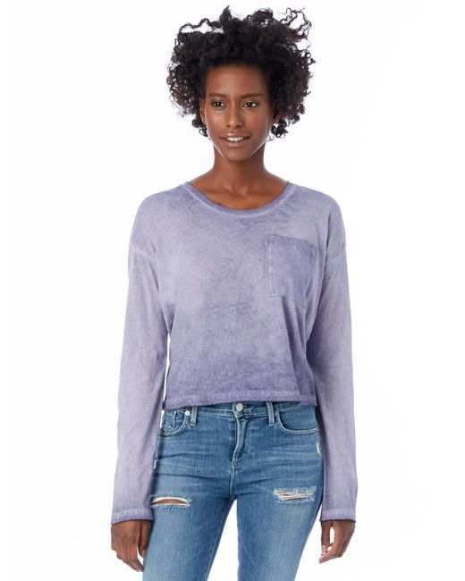 Alternative Apparel | Purple Element Wash High-waisted T-shirt | Lyst