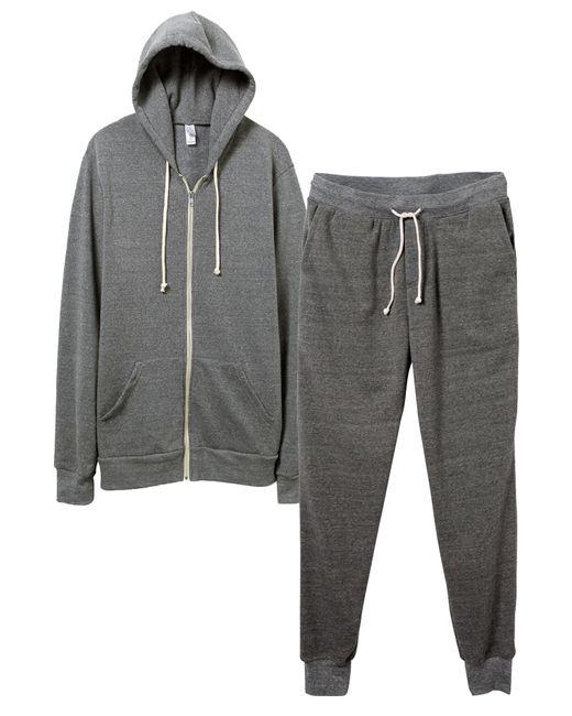 Alternative Apparel | Gray Warm-up Suit Hoodie And Pants 2-pk Bundle for Men | Lyst