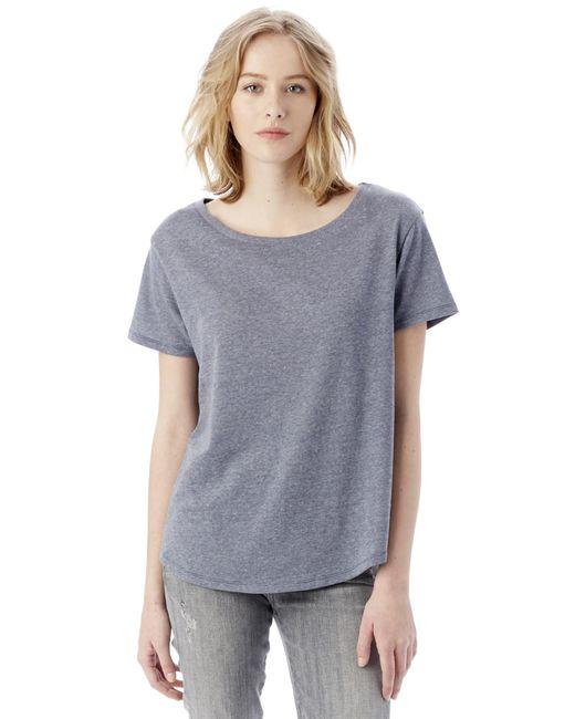 Alternative Apparel - Blue Backstage Vintage Jersey T-shirt - Lyst